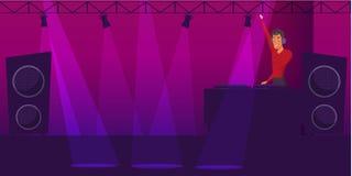 Partito, illustrazione di colore di vettore del fumetto della discoteca royalty illustrazione gratis