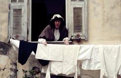 Partito medioevale del costume Fotografia Stock
