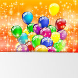 Partito multicolore dei palloni di compleanno Fotografia Stock Libera da Diritti
