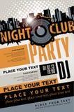 Partito musicale in night-club Fotografia Stock