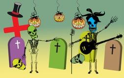 Partito nel cimitero illustrazione di stock