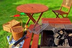 Partito o picnic del BBQ di estate Immagine Stock Libera da Diritti