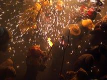 Partito popolare dei fuochi d'artificio Fotografie Stock