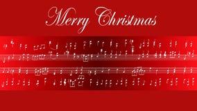 Partitur-frohe Weihnachten stock footage