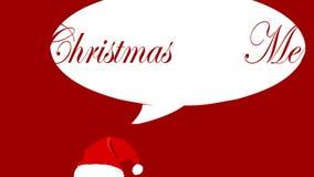 Partitur-frohe Weihnachten Whit Santa Hat stock video