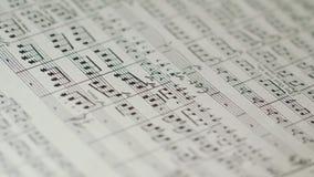 Partitura del ` s del conduttore di orchestra di Philharmony video d archivio