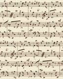 Partitura do piano do vetor Fotos de Stock Royalty Free