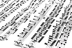 Partitura musical Fotos de archivo libres de regalías