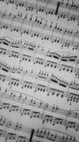 Partitura Muzyczny prześcieradło Zdjęcia Royalty Free
