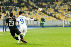 """Partizan do †de Kyiv do dínamo do fósforo de futebol da liga do Europa do UEFA """", Dece Imagem de Stock Royalty Free"""