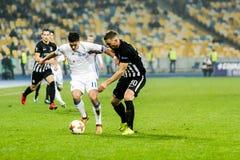 "Partizan do †de Kyiv do dínamo do fósforo de futebol da liga do Europa do UEFA "", Dece Fotografia de Stock Royalty Free"