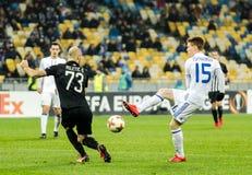 "Partizan do †de Kyiv do dínamo do fósforo de futebol da liga do Europa do UEFA "", Dece Fotos de Stock"