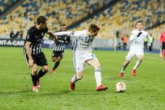 """Partizan do †de Kyiv do dínamo do fósforo de futebol da liga do Europa do UEFA """", Dece Imagens de Stock"""