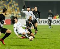 """Partizan do †de Kyiv do dínamo do fósforo de futebol da liga do Europa do UEFA """", Dece Fotografia de Stock"""