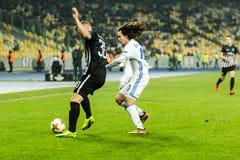 """Partizan do †de Kyiv do dínamo do fósforo de futebol da liga do Europa do UEFA """", Dece Imagem de Stock"""