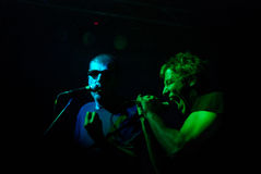 Partizan live. Adrian plesca and Razvan Moldovan from Partizan band performing live in a club Royalty Free Stock Photo