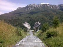 Partizan monument. Bosnia Tjenetise mountains Stock Photography