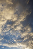 Partly Cloudy. Anticyclone. Weather forecast. Cumulus clouds against a blue sky. Partly Cloudy. Anticyclone. Weather forecast stock photography
