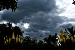 Partly cloudy Stock Photos