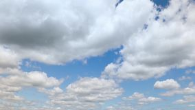 Partly cloudy fast motion clouds timelapse stock footage