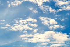 Partly cloudy in the morning sun. Partly cloudy in the morning sun light time Royalty Free Stock Photos