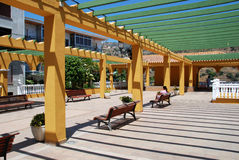 Partly covered park, Torrox. Royalty Free Stock Images
