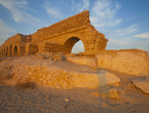 Partly destroyed wall of aqueduct Royalty Free Stock Image