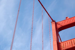 Partly Golden Gate. A patrly view to the Golden Gate Stock Photos
