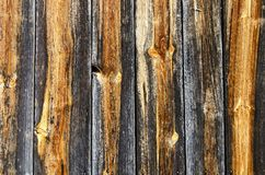 Partly grayed and weathered wooden planks Stock Image