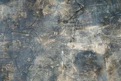 The partly painted crumpled papers royalty free stock photos