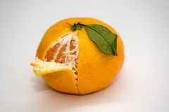 Partly Peeled mandarin Stock Image