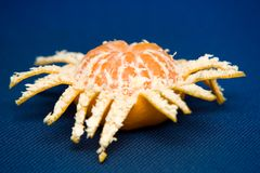 Partly peeled mandarin Royalty Free Stock Photography