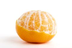 Partly Peeled Orange Royalty Free Stock Image