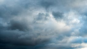 Partly cloudy, time-lapse. Partly rain cloudy, time lapse stock footage