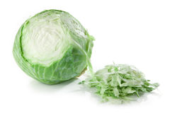 Partly sliced cabbage Stock Image