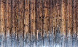 Partly weathered board wall Royalty Free Stock Photos