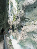 Partnach峡谷,巴伐利亚,德国 图库摄影