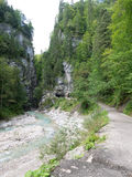 Partnach Gorge, bavaria, Germany Royalty Free Stock Image