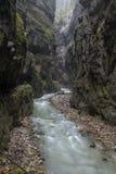 Partnach gorge (Partnachklamm). Partnach gorge near Garmisch-Partenkirchen, Germany Royalty Free Stock Photography
