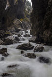 Partnach gorge (Partnachklamm). Partnach gorge near Garmisch-Partenkirchen, Germany Stock Photo