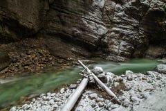 Partnach gorge (Partnachklamm). Partnach gorge near Garmisch-Partenkirchen, Germany Royalty Free Stock Photo