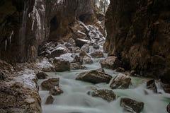 Partnach gorge (Partnachklamm). Partnach gorge near Garmisch-Partenkirchen, Germany Stock Images