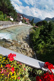 Partnach river in Garmisch-Partenkirchen Royalty Free Stock Photos