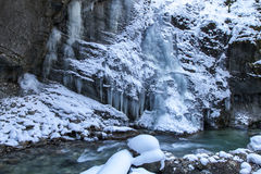 Partnachklamm gorge in Bavaria, Germany Stock Photos