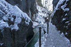 Partnachklamm gorge in Bavaria, Germany Royalty Free Stock Photos