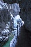Partnachklamm gorge in Bavaria, Germany Stock Image