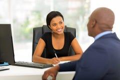 Partnerów biznesowych spotykać Obrazy Stock