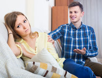 Partner cannot forgive another after conflict at home Stock Photography