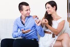 Partner di perdono del coniuge Fotografia Stock