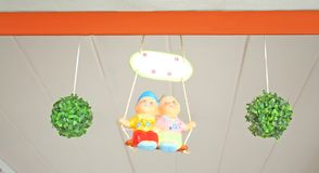 Partner doll hanging on ceiling stock images
